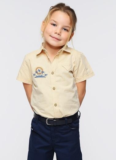 Morhipo Kids Kısa Kollu Gömlek Bej